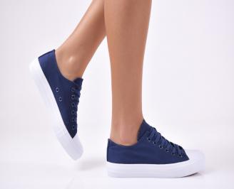 Дамски спортни обувки текстил сини RYXT-1012802