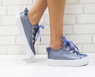 Дамски спортни обувки текстил сини AHWA-26422