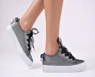 Дамски спортни обувки текстил черни OFQB-26423
