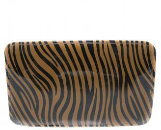 Дамско портмоне еко кожа/лак  тигрово HRXV-20170