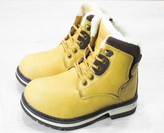 Детски  боти Bulldozer  еко кожа жълто/кафяви DVBW-25151