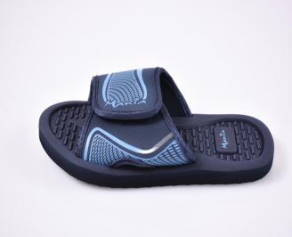 Детски джапанки еко кожа сини DHTR-1012505
