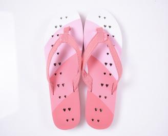 Детски джапанки текстил розови VMAH-1012540