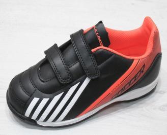 Детски футболни обувки Bulldozer  еко кожа черни JSKA-23188