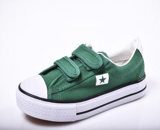 Детски гуменки   текстил зелени RCBK-1010186
