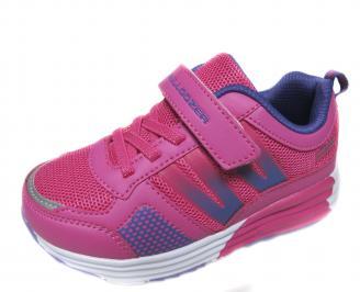 Детски маратонки Bulldozer еко кожа,текстил розово HHRN-21105