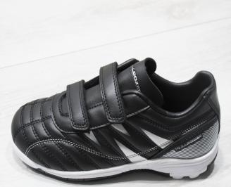 Детски маратонки Bulldozer еко кожа черни ZMJO-23753