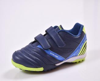Детски маратонки  еко кожа сини JVGN-26845