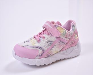 Детски маратонки  текстил розови JVJW-26829