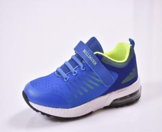 Детски маратонки  текстил сини HLLV-26837