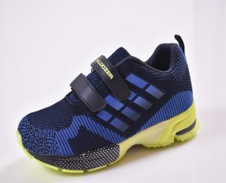 Детски маратонки  текстил сини ZRHW-26844