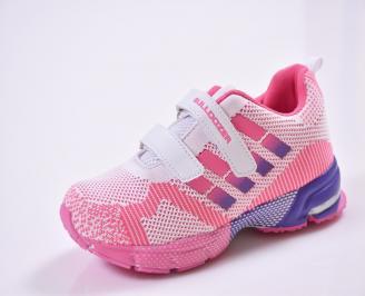 Детски маратонки  текстил розово/бяло SDQP-26846