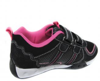 Детски обувки Bulldozer черни еко кожа JAVH-20060
