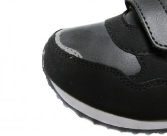 Детски обувки Bulldozer черни еко кожа IQTG-20062