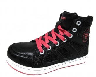 Детски обувки Bulldozer еко кожа черни GWTF-22032