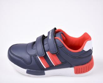 Детски обувки Bulldozer сини еко кожа SCYL-23216