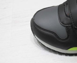 Детски обувки Bulldozer черни еко кожа MLOI-23218