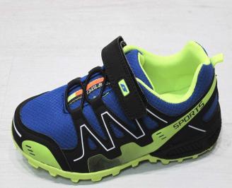 Детски обувки Bulldozer  еко кожа /текстил синьо/черно QMWS-23220