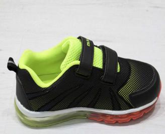 Детски обувки Bulldozer черни еко кожа/текстил LQFR-23222