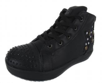 Детски обувки Bulldozer еко кожа черни PSMB-17800