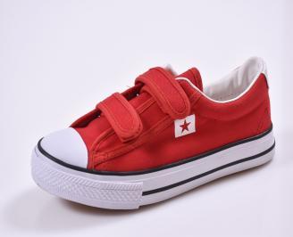 Детски обувки  текстил червени ECOP-26822