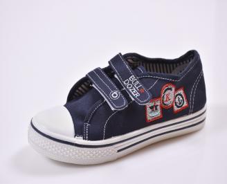 Детски обувки  текстил сини UYNY-26823