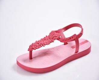 Детски  равни  сандали розови LFHD-27389