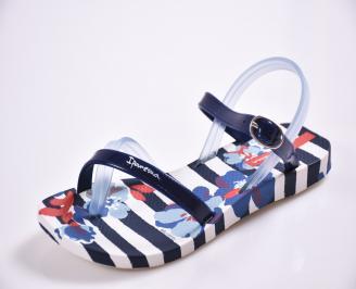 Детски  равни  сандали сини BZKR-27371