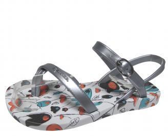 Детски  равни силиконови сандали Ipanema сребристи CAWM-21692