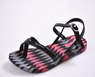 Детски равни силиконови сандали Ipanema черни VGXZ-24342
