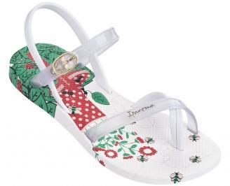 Детски равни силиконови сандали Ipanema бели RVPT-24361