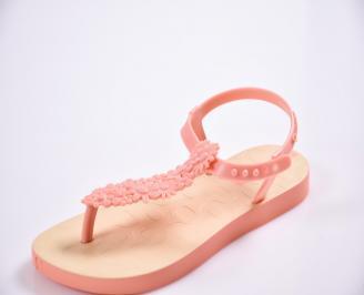 Детски сандали оранжеви ZYTO-27405