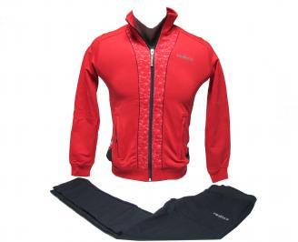 Детски спортен екип памук червен IKXZ-22002