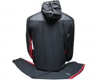 Детски спортен екип памук черен GEKF-22003
