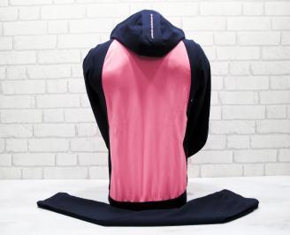 Детски спортен екип памук розово/син ELHA-25044
