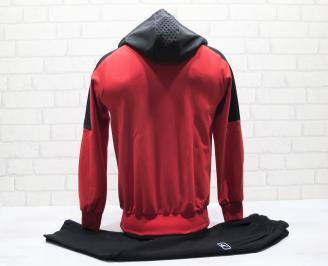 Детски спортен екип памук червен XNDG-25049
