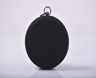 Елегантна абитуриентска чанта  ситен брокат черна  NEXH-1015274