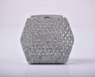 Елегантна абитуриентска чанта текстил сребриста  CRJE-1015280