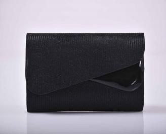 Елегантна абитуриентска чанта брокат черна  WFYW-1015283