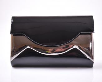 Елегантна чанта еко лак черна GDQN-1013499