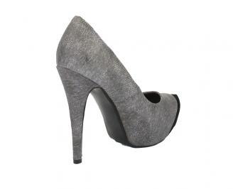 Елегантни дамски обувки еко кожа сиви UBGY-10485
