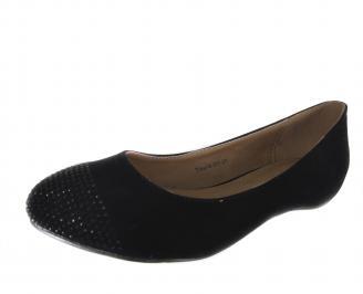 Ежедневни дамски обувки еко набук/камъни черни OLQQ-18234