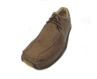 Ежедневни мъжки обувки естествена кожа WMBO-11393