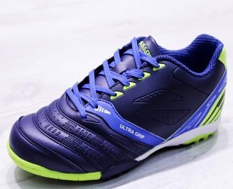Футболни обувки  еко кожа сини AKSR-26656