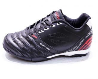 Футболни обувки  еко кожа черни HXHN-26661