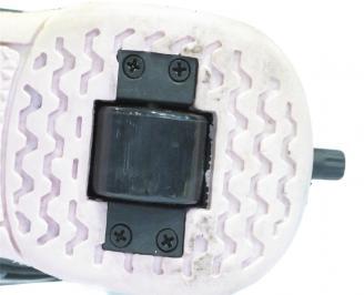 Маратонки с колелца еко кожа черни BBGG-11075