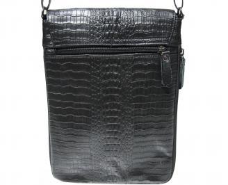 Мъжка чанта черна естествена кожа LVMR-21919