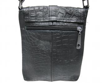 Мъжка чанта черна естествена кожа LSBY-21922
