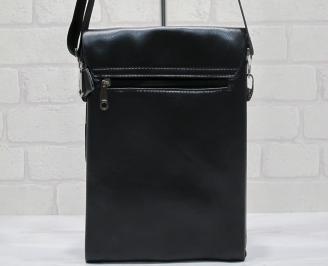 Мъжка чанта черна естествена кожа RJZR-23710