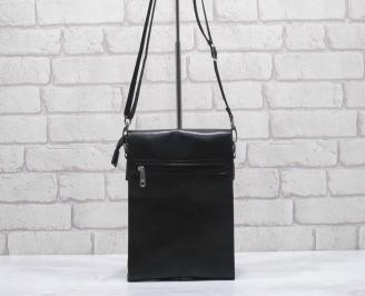 Мъжка чанта черна естествена кожа SHXU-24591